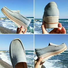 2a344c0112dc Breathable Suede Round Toe Slip On Platform Shoes Latest Shoes