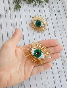 Evil eye beaded earrings Tasseled eye drop earrings Green eyes earrings Fashion jewelry Beaded earrings
