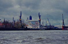 Hambourg 34 BLOHM + VOSS Dock Elbe 17, Dry dock, cale sèche