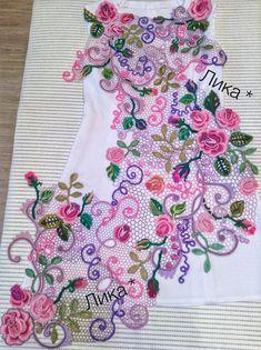 Ирландское кружево Crochet Doilies, Crochet Flowers, Crochet Lace, Crochet Stitches, Russian Crochet, Form Crochet, Irish Crochet Patterns, Lace Patterns, Crochet Blouse