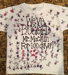 Day of School shirt. Since she and her little friend like to be girly girl - Kind Shirt - Ideas of Kind Shirt - Day of School shirt. Since she and her little friend like to be girly girls and drive Mr McClain bonkers they made these shirts for day! 100 Day Of School Project, 100 Days Of School, School Fun, School Projects, School Stuff, Fair Projects, Vinyl Projects, Middle School, Girly M