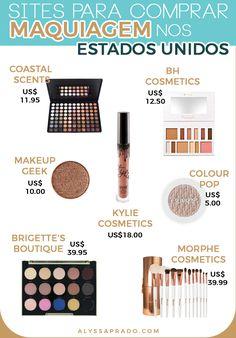 Não é só na farmácia que se encontra maquiagem barata e de qualidade nos Estados Unidos! Conheça 9 sites onde você pode conseguir produtos incríveis e por um ótimo preço! Muitos deles também entregam no Brasil! Conheça todos os sites no post >> http://alyssaprado.com/sites-para-comprar-maquiagem-nos-estados-unidos/