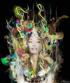Archan Nair ilustrações coloridas surreais psicodélicas