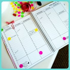 color coding planner w/ stickers