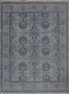 Oushaks are a #traditional Turkish-style #rug that originated in a small town of the same name, dating back to the 15th century. Rug & Home's hand knotted Oushaks are immensely popular due to the washed patina and the aged look they radiate. Usually seen in softer pastels and earth tones, the color palette and soft hand of Oushak rugs makes them absolutely irresistible. These rugs are traditional in pattern, but have a more casual aura due to their more muted and mellowed presence.