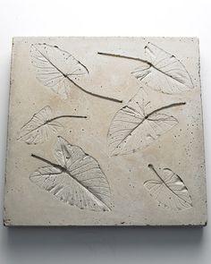 Leaf-embossed tabletop hypertufa mold by Martha Stewart
