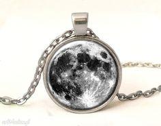 Pełnia księżyca medalion łańcuszkiem naszyjniki egginegg księżyc