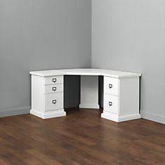 Original Home Office™ Corner Desk Group – Small - Home Office Furniture Home Office Desks, Home Office Furniture, Furniture Ideas, Modern Furniture, Mid-century Modern, File Cabinet Desk, Drawer Labels, Small Office, Ballard Designs
