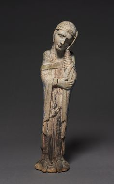Mourning Virgin, c. Austria, Region of Salzburg (Lungau?), painted wood, Cleveland Museum of Art Romanesque Sculpture, Romanesque Art, Ancient Goddesses, Cleveland Museum Of Art, Medieval Art, Sacred Art, Ancient Artifacts, Old Art, Religious Art