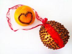 Orange Pomander Balls, makes the house smell devine!