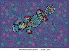 Illustration about Multicolored Duck-bill in ethnic Australian pattern style. Illustration of animal, multicolored, geometric - 9918247 Aboriginal Art For Kids, Aboriginal Artwork, Aboriginal Tattoo, Duck Bill, Dot Tattoos, Platypus, Australian Art, Dot Painting, Art Education
