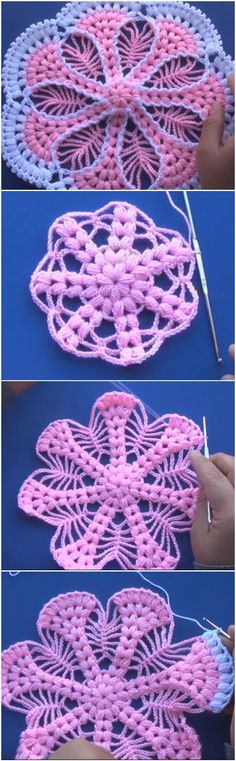 Crochet Beautiful Doily Free Pattern+Tutorial