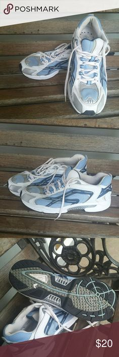 75684f26cd3 Shop Women s unknown White Blue size 9 Athletic Shoes at a discounted price  at Poshmark. Lightly used women s athletic shoes.