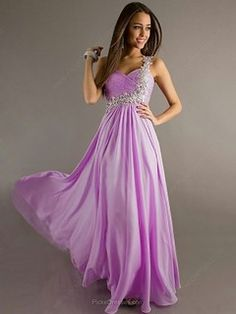 d392994e38 One Shoulder Chiffon Appliques Lace Floor-length Lilac Online Prom Dresses   PED02014907 Prom Dress