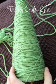 Thrifty Crafty Girl: Beady Yarn Christmas Tree