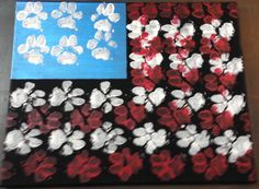 USA flag paw print painting Paw Print Crafts, Paw Print Art, Dog Crafts, Paw Prints, Dog Paw Art, Pet Paws, Dog Activities, Nikko, Dog Daycare