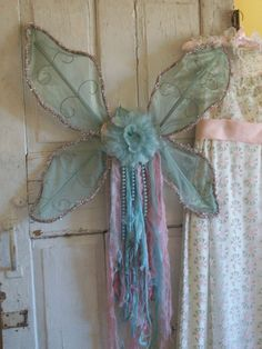 Fairy angel wings shabby cottage fantasy by AnitaSperoDesign, $80.00