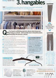 How to Organize your Closet 3. Hangables