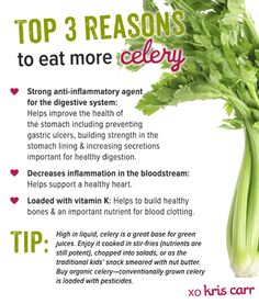 Top 3 Reasons To Eat More Celery