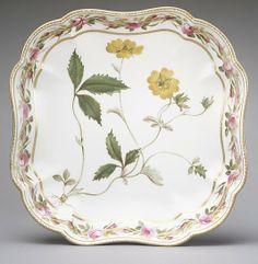 Dish (one of a pair) Derby Decorator: William Billingsley (1758–1828) Date: ca. 1793 Culture: British, Derby Medium: Soft-paste porcelain
