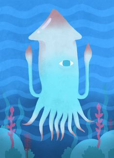 Poster | GIANT SQUID von Chase Kunz | more posters at http://moreposter.de
