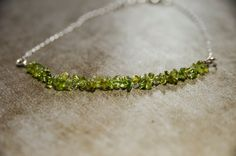 Peridot Bracelet Good Luck Bracelet Weight loss by CrystalMinded