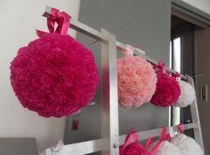 Boule de fleurs papier de soie mariage, réception | Annonces Dentelle