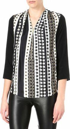 "Sandro Epicure Silk Blouse worn by Zoe Hart on Hart of Dixie ""Ring of Fire"". Shop it: http://www.pradux.com/sandro-epicure-silk-blouse-27557?q=s24"