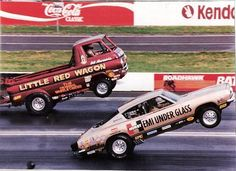 Little Red Wagon vs. Hemi Under Glass