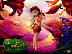 Another favorite fairy Rosetta, voiced by Kristin Chenoweth. Tinkerbell Party Theme, Tinkerbell Fairies, Kids Cartoon Characters, Cartoon Kids, Disney Characters, Rosetta Fairy, Disney Faries, Pixie Hollow, Fairy Pictures