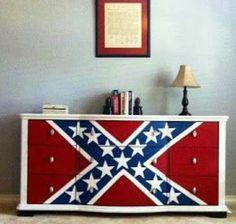 Rebel flag dresser