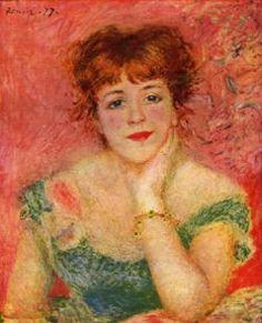 P.A. Renoir, La Rêverie, 1877, olio su tela, 56 cm × 47 cm, Museo Puškin, Mosca Jeanne Samary fu un'attrice che divenne celebre, più che per le sue qualità recitative, per il fatto di essere stata ritratta in parecchi dipinti di Renoir. Il quadro è noto anche col titolo di La Rêverie (in francese «sogno, fantasticheria») a causa dell'aria trasognata della modella.