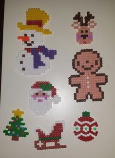 Christmas ornaments  hama beads by Daria DaMatti