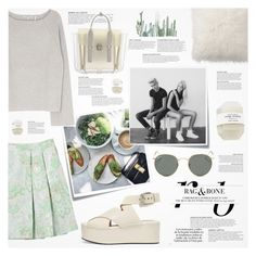 """""""♠ Dinner"""" by paty ❤ liked on Polyvore featuring Marni, Post-It, Ray-Ban, Alexander Wang, Pottery Barn, KAROLINA, Helmut Lang and 3.1 Phillip Lim"""