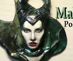 Malificent polymer clay charm made by Sugarcharmshop