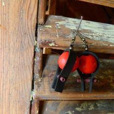 Récup bijoux boucles d'oreille chambre à air  création modèle unique zagmoun
