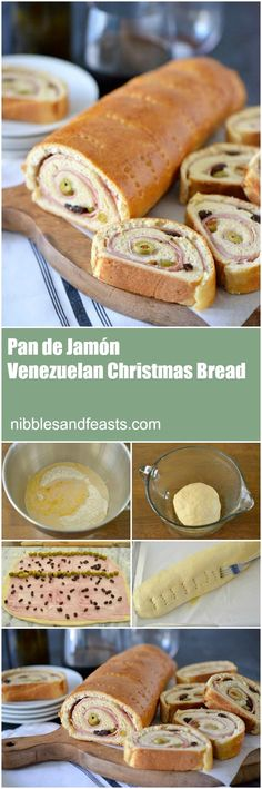 Pan de Jamón is a traditional Venezuelan holiday appetizer. A simple but very impressive bread stuffed with ham, olives and raisins.