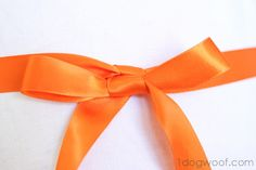 How to Tie a Beautiful Ribbon Bow - One Dog Woof