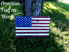 American Flag on Wood | Mom in Music City