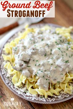 Ground Beef Stroganoff - The Country Cook main dishes Beef Dishes, Pasta Dishes, Food Dishes, Main Dishes, Food Food, Okra, Pasta Recipes, Cooking Recipes, Dinner Recipes