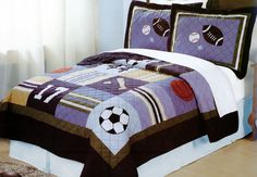 All State Sports Quilt Set | Boys Sports Bedding |Teen Sports Quilts