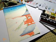 ContinuandoContinuing                                     TcnicaTechinic AquarelaWatercolor
