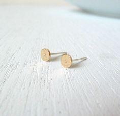XO earrings. Personalized Initials Dainty Nu Gold by LibiClozet