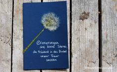 Handgemachte Karte FrauSchweizer: Erinnerung, Kondolenzkarte , Trauerkarter, Tod, Sterbefall