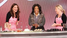 Georgetown Cupcake & DC Cupcakes' Katherine & Sophie bake their Strawberry Champagne cupcake recipe on Oprah!!