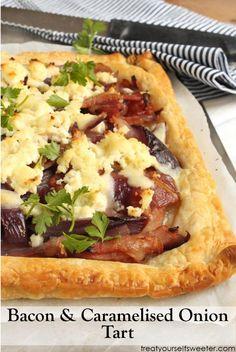 Bacon and onion tart
