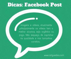 Quer melhorar suas postagens no facebook?  Dica 3 #dica #facebook #post #midiassociais #socialmedia