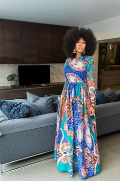 African Print Artura Maxi Dress Source by jngomafaye Kente Dress, African Maxi Dresses, African Fashion Ankara, African Print Fashion, African Attire, African Wear, African Prints, Nigerian Outfits, Style Africain