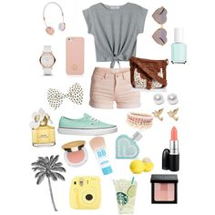 Katie♡ by natashagatzke on Polyvore featuring polyvore, fashion, style, Pieces, Vans, MARC BY MARC JACOBS, Lipsy, Nouv-Elle, M&Co, Tory Burch, Accessorize, Wildfox, Frends, Bobbi Brown Cosmetics, Isaac Mizrahi, Maybelline, MAC Cosmetics, Marc Jacobs, Aéropostale, Eos and Essie