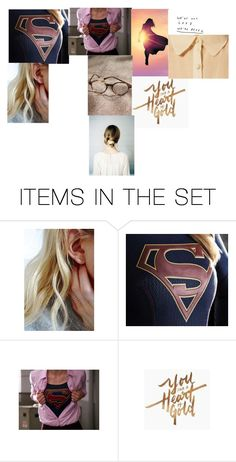 """""""Supergirl mood board"""" by sydney24-hunter ❤ liked on Polyvore featuring art"""